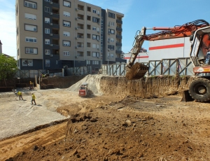 Početak izgradnje poslovno stambenog objekta na Žarkovu, ul. Drage Spasić, Opština Čukarica