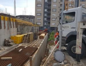 Radovi u toku na objektu u izgradnji u ulici Drage Spasić na Žarkovu